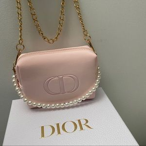 Dior Cosmetic pouch with crossbody chain